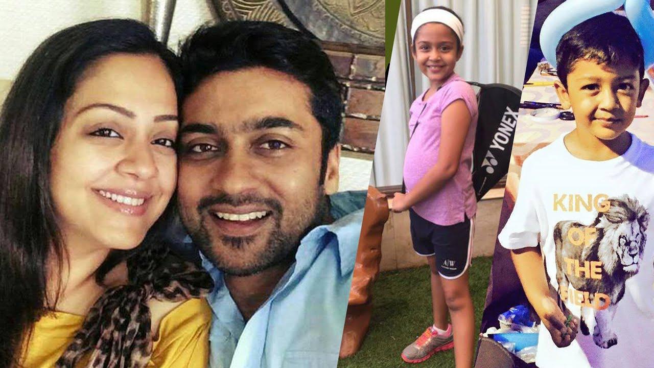 Tamil Actor Surya and Jyothika Family Photos - Suriya