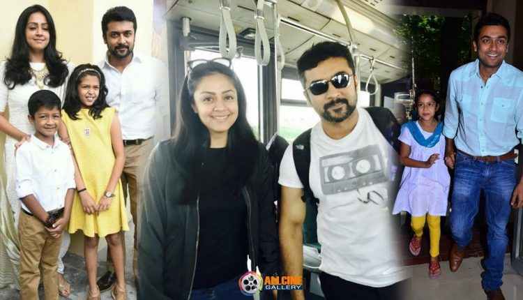 Actor Surya Family Photos with Wife Jyothika, Daughter ...