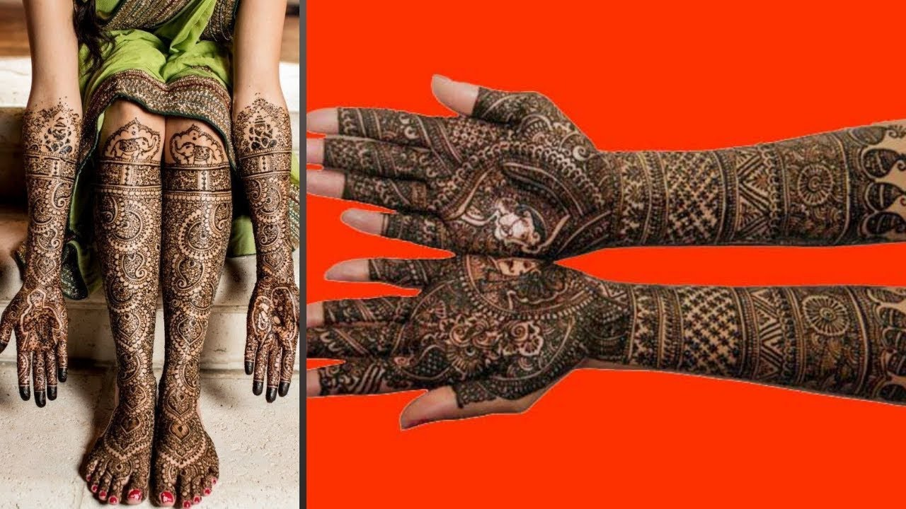 Latest Bridal Mehndi Designs For Full Hands Images 2019
