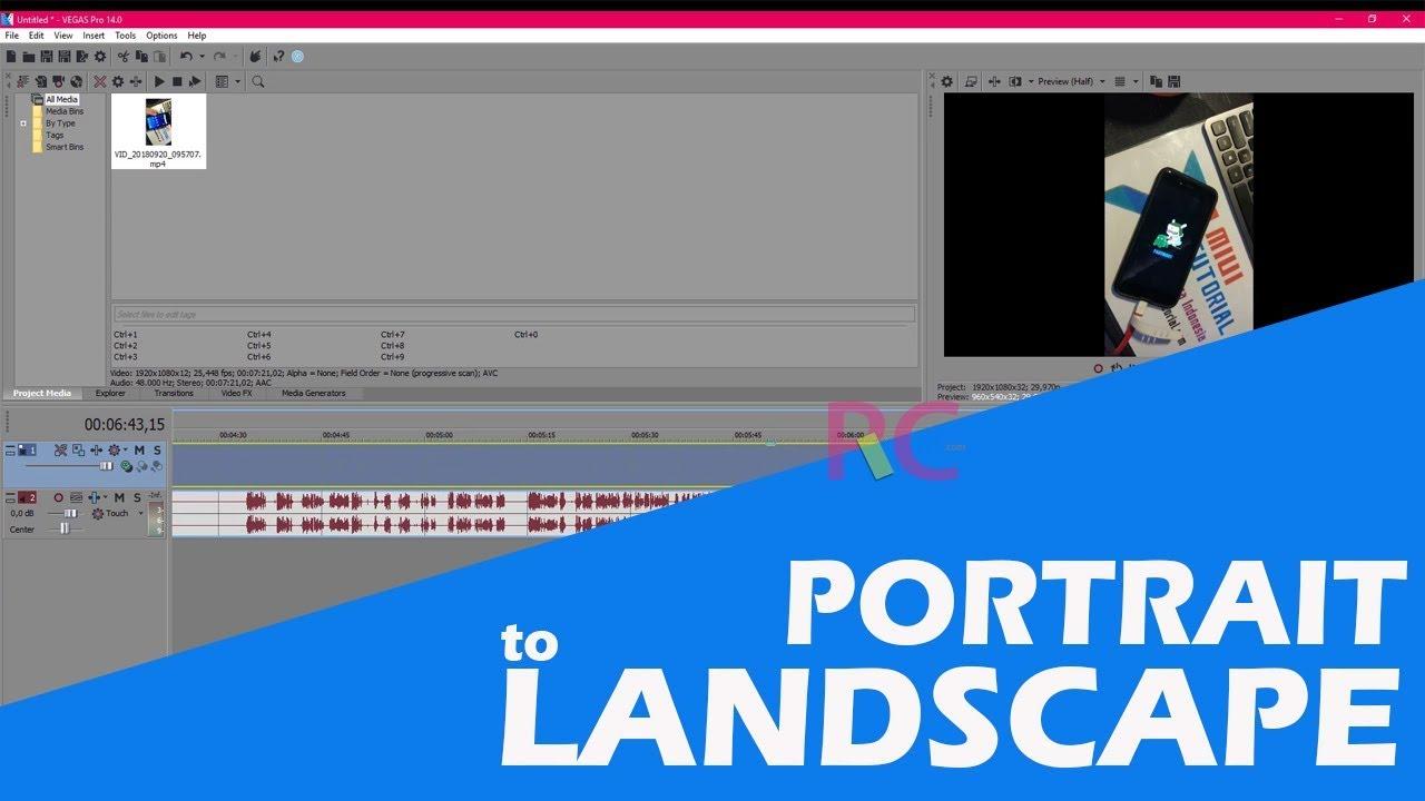 Cara Merubah Video Portrait Menjadi Landscape Di Sony Vegas Pro 14 Tanpa Merubah Kualitas Dslr Guru