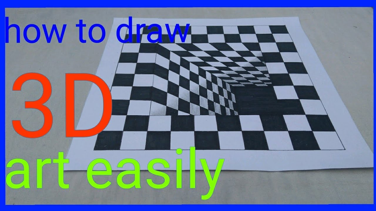 How To Draw 3d Art On Paper How To Draw 3d Photo 3d
